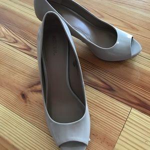 Nude heels with open toe